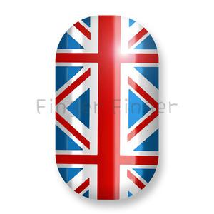 Купить Minx (Минкс) Union Jacks Silver Lightning - пленки Британский флаг в